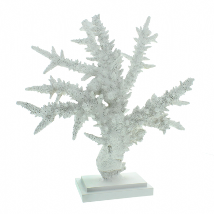 Large White Resin Coral Reef Table Bathroom Decor